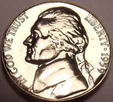 Buy Scarce Gem Proof 1959 Jefferson Nickel~Excellent~Free Shipping