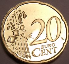 Buy Cameo Proof Germany 2003-F 20 Euro Cents~Stuttgart Mint~Cameo~Free Shipping~
