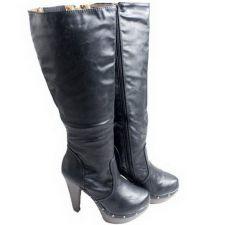 Buy Never 2 Hot (N2H) Ladies Platform Stud Knee High Boots Waterproof Size 6-9.5