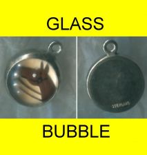 Buy vintage Sterling & Glass Charm : Dome Bubble Painted Horse Head