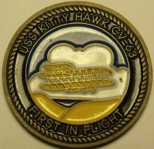 Buy USS Kitty Hawk First In Flight Medallion~Presented By The Commanding Officer~F/S