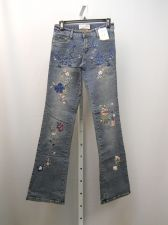 Buy Milano Moda Stonewashed Embellished Women's Boot Cut Legs 28X33 Jeans Size 5-6
