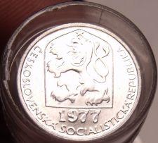 Buy Gem Unc Roll (40 Coins) Czechoslovakia 1977 5 Haleru~1st Year Ever Minted~Fr/Shi