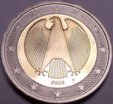 Buy Cameo Proof Germany 2003-F 2 Euros~Stuttgart Mint~Eagle~Bi-Metal~Free Shipping~