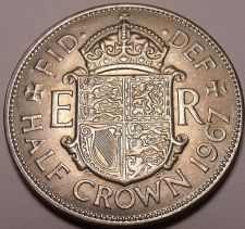 Buy HUGE AWESOME UNC GREAT BRITAIN 1967 HALF CROWN~FREE SHI
