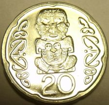 Buy Gem Unc New Zealand 2006 20 Cents~Pukaki~The Gods~Free Shipping