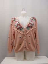 Buy SIZE 18 20 VINTAGE Womens Button Sweater MAGGIE LAWRENCE Mauve Long Sleeves