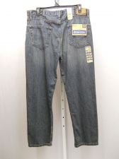 Buy Mens JEANS Size 40X30 DENIZEN Stonewash Relaxed Fit Straight Legs 100% Cotton