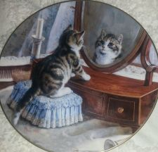 """Buy Bradford Exchange """"WHO'S THE FAIREST OF THEM ALL"""" by Frank Paton """"VICTORIAN CAT"""