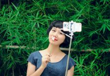 Buy Adjustable Selfie Stick for IOS + Android - 21 To 77CM, 6CM To 9.5CM Phone Clip,