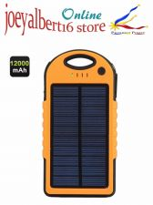 Buy Rugged 12000mAh Solar Power Bank - 4 Adapters, Dual USB Output, IPX6 Waterproof,