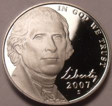 Buy United States Gem Proof 2007-S Jefferson Nickel~Proofs Are Best~Free Shipping