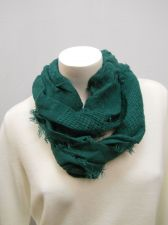 Buy Lofty Infinity SCARF Womens FADED GLORY Solid Green All Occasion Size 64X 21