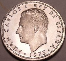 Buy PROOF SPAIN 1975(77)25 PESETAS~~ONLY YEAR~FREE SHIPPING