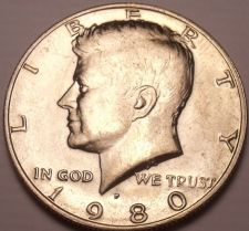 Buy United States Unc 1980-P Kennedy Half Dollar~Free Shipping