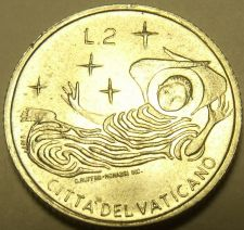 Buy Rare Vatican 1969 F.A.O. 2 Lire~100,000 Minted~Angel In Flight~Free Shipping