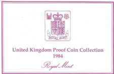 Buy 1984 Great Britain 8 Coin 2 Page C.O.A. Document Set~Free Shipping