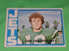 Buy VINTAGE CHRIS FARASOPOULOS JETS 1972 TOPPS FOOTBALL GD-VG
