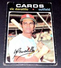 Buy VINTAGE VIC DAVALILO CARDINALS 1971 TOPPS ROOKIE #4 PR-G