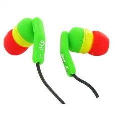 Buy iHip Rasta Fashionable Noise Isolating Earbuds
