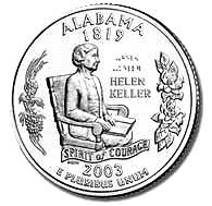 Buy 2003-P ALABAMA GEM BRILLIANT UNCIRCULATED STATE QUARTER~FREE SHIPPING INCLUDED~
