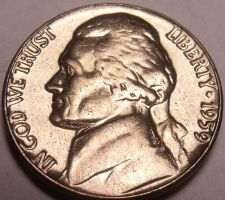 Buy United States Unc 1959-P Jefferson Nickel~Excellent~Free Shipping
