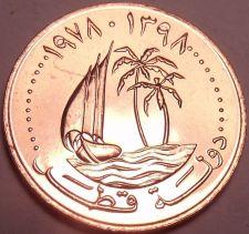 Buy Gem Brilliant Unc Qatar 1978 5 Dirhams~Last Year~Ruler-Hamad bin Khalifa~Free Sh