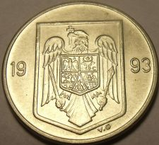 Buy Unc Romania 1993 10 Lei~1st Year Ever~Eagle With Cross In Its Mouth~Free Ship*