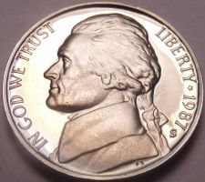 Buy DEEP MIRROR 1987-S PROOF JEFFERSON NICKEL~FREE SHIPPING