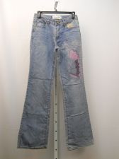 Buy JUNIOR SIZE 5 6 Boot Cut Jeans MILANO MODA Embellished Stonewashed 28X33 Mid Ris