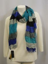 "Buy Cejon Blue Striped Fringed Warm Wrap Shawl Scarfs 74""X 19"""