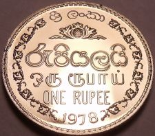 Buy Rare Proof Sri Lanka 1978 Rupee~Only 20,000 Minted~Security Edge~Free Shipping