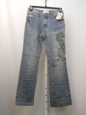 Buy Milano Moda Embellished Stonewashed Women's Boot Cut Legs 32X33 Jeans Size 9-10