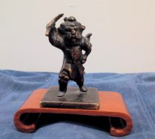 Buy A RARE MING DYNASTY BRONZE FIGURAL WARRIOR WAX SEAL