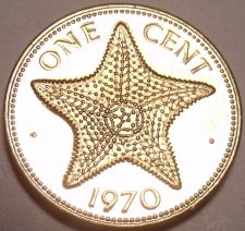 Buy Rare Proof Bahamas 1970 Cent~Starfish~1st Year Ever~23,000 Minted~Free Shipping
