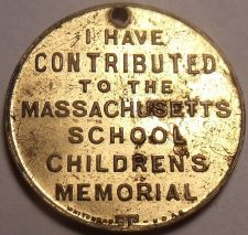 Buy 1982 I Have Contributed To The Massachusetts School Childrens Memorial~F/S