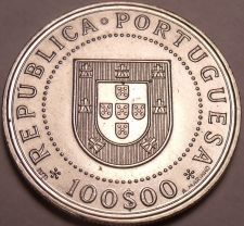 Buy Huge Unc Portugal 1990 100 Escudos~350th Anniversary Of Resoration~Free Shipping