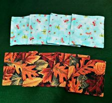 Buy Drink Coasters set of 4 100% Cotton fabric Handmade Choose from 2 designs