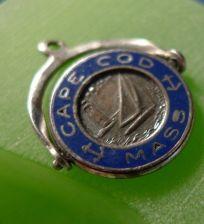 Buy Sterling Silver Travel Souvenir Charm : SPINNER ENAMEL Cape Cod Mass