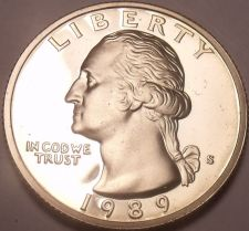 Buy United States Proof 1989-S Washington Quarter~See Our Proof Coins~Free Shipping