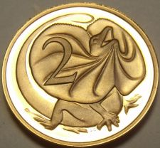 Buy Cameo Proof Australia 1982 2 Cents~Frilled-Neck Lizard~100,000 Minted~Free Ship