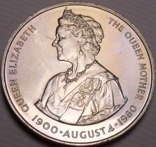 Buy Gem Unc Falkland Islands 1980 50 Pence~The Queens Mother~80th Birthday~Free Ship