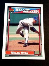Buy MLB NOLAN RYAN 1991 TOPPS RECORD BREAKER #4 GD-VG