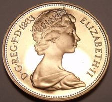 Buy Cameo Proof Great Britain 1983 Penny~Proof Coins Are The Mints Best Work~Free Sh