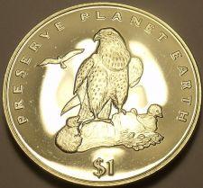 Buy Gem Bu Eritrea 1996 Dollar~Fantastic Laner Falcon~Preserve Earth~Free Shipping