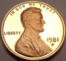 Buy GEM PROOF 1981-S LINCOLN CENT~~AWESOME~~FREE SHIPPING~~
