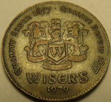 Buy Rare Wiser's Distillary Token 1979~Canadian Whisky Medallion~Since 1857~Free Shi