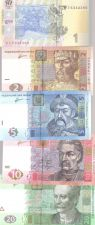 Buy Set of 5Pcs Banknotes Ukraine 1+2+5+10+20 Hryven Europe Paper Money Uncirculated