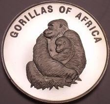 Buy Silver Proof Uganda 2003 1,000 Shillings~Female Gorilla With Infant~Free Ship