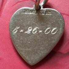Buy Tiffany Heart Bracelet Charm Year 2000 Sterling 925 Silver w/ Monogram #22256